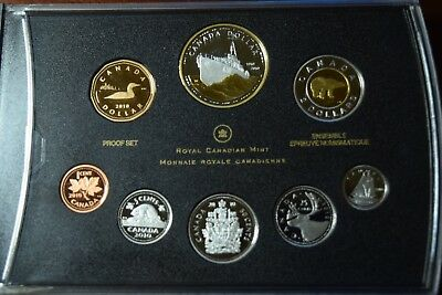 2010 Canada 8-Coin 100th Anniversary Navy Proof Set w/Gold Plate Silver Dollar