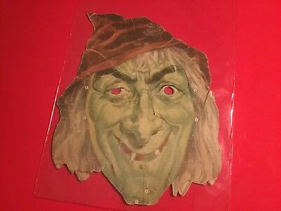"""Very Rare Vintage Halloween 1950S Premium Cereal Box Cut Out """"witches"""" Mask"""