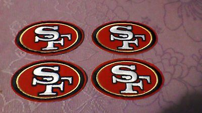 4 X Nfl San Francisco 49Ers Iron On Or Sew On Embroided Patches / Badges Jersey