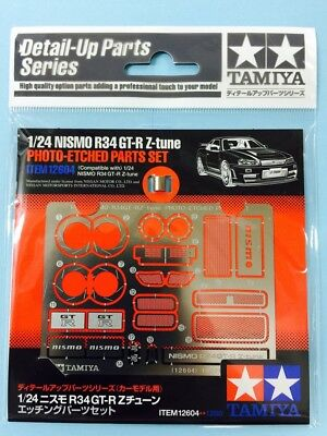 12604 Tamiya, Nismo Nissan Skyline GTR R34 Z Tune Photo Etch Parts, Brand NEW