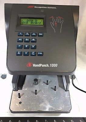 Ir Recognition Systems Hand Punch Model: Hp-1000 P/n 70100-6009 Hand Scanner