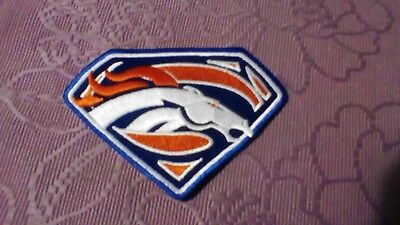 1 X Denver Broncos Nfl Gridiron Superman Embroided Patch Badge Jersey