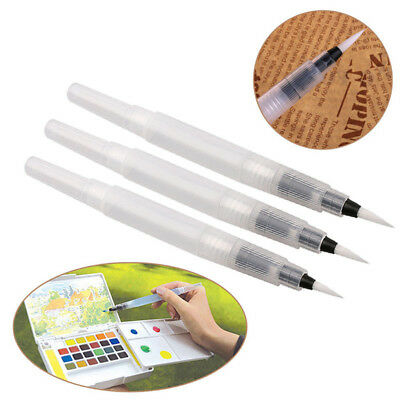 3pcs/Set Refillable Pilot Water Brush Ink Pen for Paint  Calligraphy  Watercolor