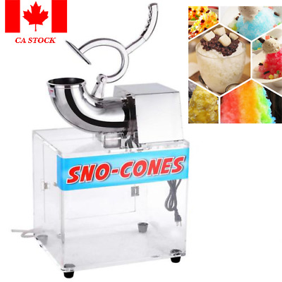 Snow Cone Machine Ice Shaver Maker Crusher Hawaiian Duty Electric Shaved
