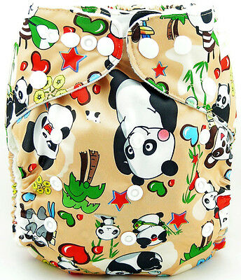 1xCute Infant Printed Cloth Diaper Cover Reusable Nappy Covers Pandar OB041 02