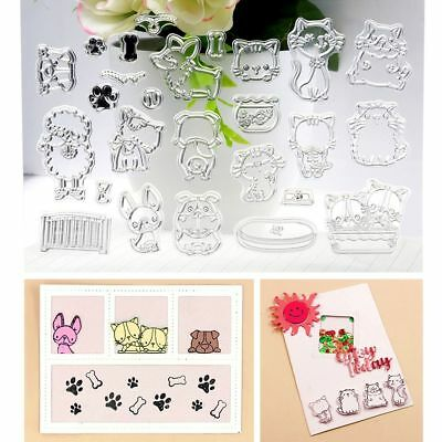 Girl Pet Animals Rose Transparent Silicone Stamp Sheet Cling Scrapbooking DIY