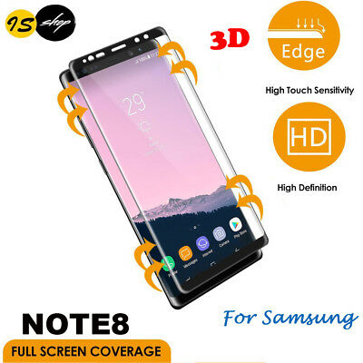 3D Tempered Glass Screen Protector Full Coverage Film For Samsung Galaxy Note 8