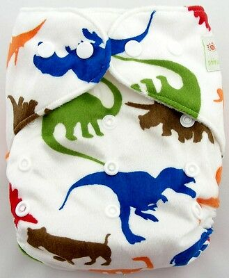 1xCute Infant Printed Cloth Diaper Cover Reusable Nappy Covers C212 Dinosaur 02