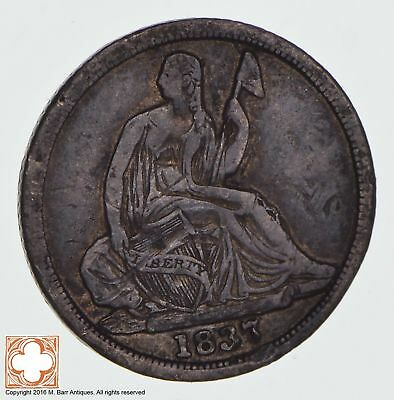 1837 Seated Liberty Silver Half Dime *1295