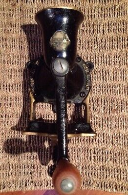 Vintage Coffee Mill Grinder Cast Iron SPONG & Co No 2 Made in England