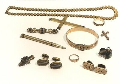 Lot of Gold FIlled Edwardian Victorian Jewelry Wear or Scrap