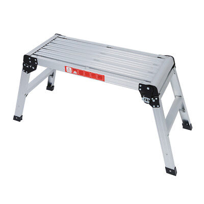 775MM Aluminium Platform Work Bench Folding Step Ladder EN131 CE 150Kg Hop I2V5