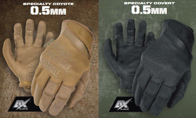 NEW Mechanix Speciality 0.5 Gloves - Black & Coyote - High Dexterity Spec-Ops