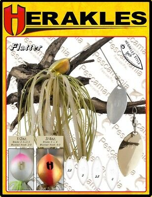 spinning lure wire bait Herakles Flatter Spinnerbait 1 oz
