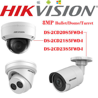 HIKVISION 8MP DS-2CD2085/2185/2385FWD-I Outdoor Security CCTV IP Cameras Genuine