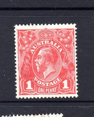 Kgv   1D Red  Large Multi Watermark  Carmine Mnh Has Crease