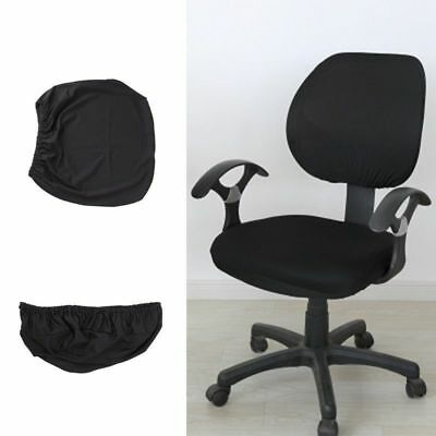 Polyester Universal Stretch Rotating Pure Color Chair Cover For Computer Office