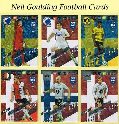 Panini FIFA 365 2018 ☆☆☆ NORDIC EDITION ☆☆☆ Scandinavian Star Cards #460 to #468