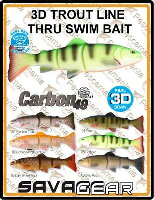 "Savage Gear ""3D TROUT LINE THRU SWIM BAIT"" 20cm 93gr spinning lure pike"