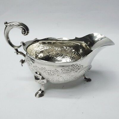 George II Silver Sauce Boats Made by THOMAS WHIPHAM 1743. Stock ID 8987