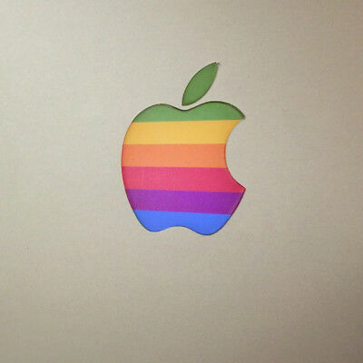 2Pcs/set Retro Apple Logo Vinyl Decal Sticker For Macbook Air Pro Retina Laptop