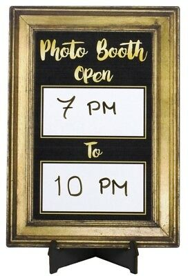 Photo Booth Open Times Sign 190mm x 260mm