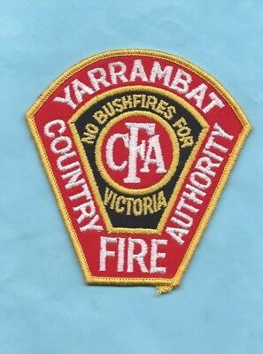 (Very Rare) YARRAMBAT COUNTRY FIRE AUTHORITY VICTORIA Patch
