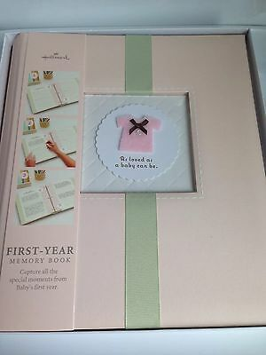 NEW IN BOX! HALLMARK Baby Girl Memory Photo Album Scrapbook BBA3719