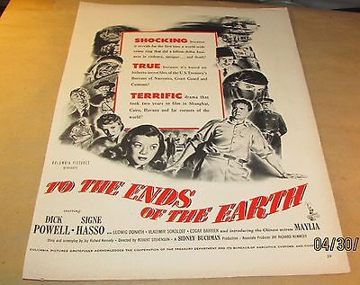 Movie Ad---TO THE ENDS OF THE EARTH---<1948>---DICK POWELL