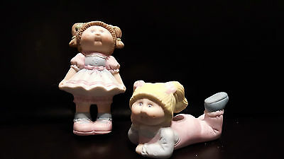 1984 Extra Special  84 edition stamped  cabbage patch figures ceramic