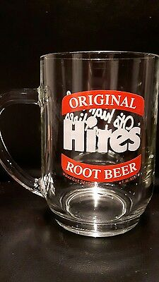 """Hires Original Root beer glass mug made in France """" it's high time for Hires"""""""
