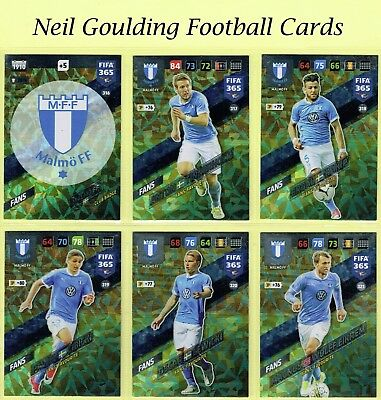 Panini FIFA 365 2018 ☆☆☆ NORDIC EDITION ☆☆☆ MALMO FF Football Cards #316 to #333