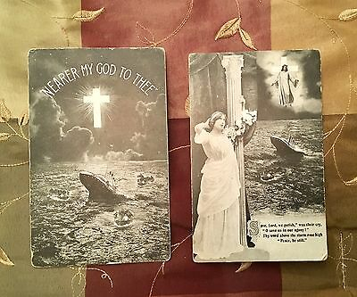 Rare Titanic Nearer My God To Thee Bamforth Mentions Disaster White Star Line