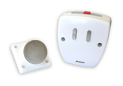 Agrippa Doorguard White Fire Door Holder Activated by Fire Alarm like Dorgard
