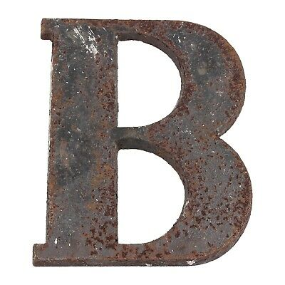 A late 19th - early 20th century cast iron B shop sign Architectural Typography