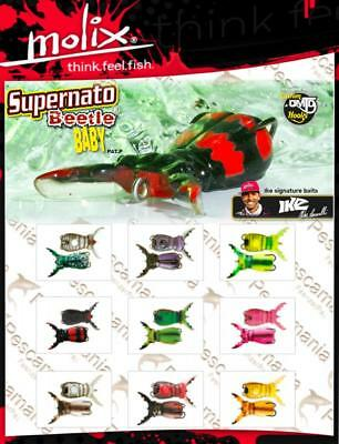 spinning lure Molix Supernato Beetle baby top water soft 5,5gr. 5cm