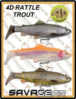 "Savage Gear ""4D THROUT RATTLE SHAD"" 20.5cm 120gr spinning lure pike"