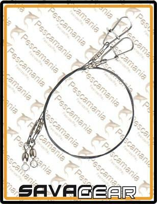 "Savage Gear ""X7 titanium SPIN TRACE"" small cable pike titanium with carabiners"