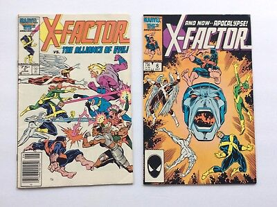 X-FACTOR (1986) 5 & 6 - FIRST APPEARANCE OF APOCALYPSE - Marvel Comics