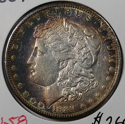 1889-S $1 Morgan Silver Dollar About Uncirculated #156729