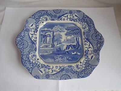 A Spode Italian Square Handled Cake  / Bread and Butter Plate
