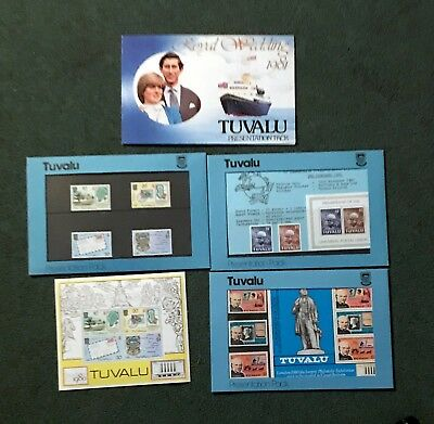 STAMPS OF TUVALU PRESENTATION PACKS AND FCDs