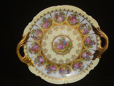 West Germany Love Story Handled Plate **