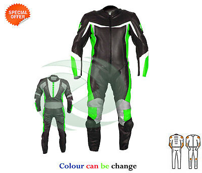 New Green and black motorbike leather suit racing suit riding apparel for track