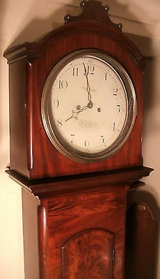 "Antique Mahogany ""Longhboro""  8 Day   Longcase / Grandfather Clock"