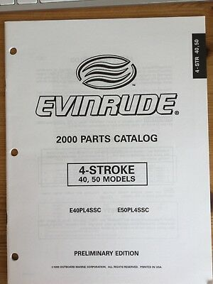 Evinrude OMC parts catalog (2000) -  40, 50 hp,  4-stroke models
