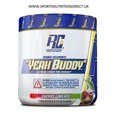 Ronnie Coleman RCSS Yeah Buddy Extreme Energy Pre-Workout 240g FREE RM 48 POST