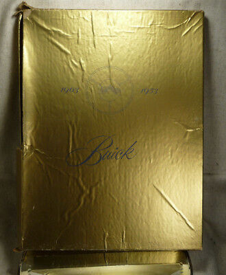 Antique Buick Golden Anniversary History Book Orig Box 1903-53 Dust Cover Excell