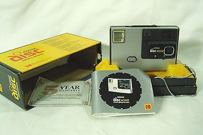 Vintage Kodak Disc 4000 camera with Original Box and Instructions