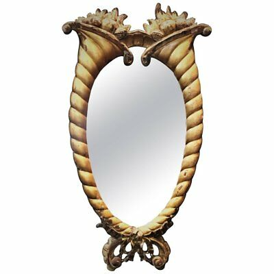 French Belle Époque Wall Mirror  in Hand-Carved and Gilded Wood Frame, Ca. 1875